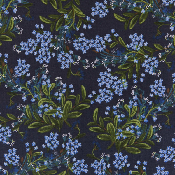 Cornflower RAYON in Navy - Last Fat Quarter