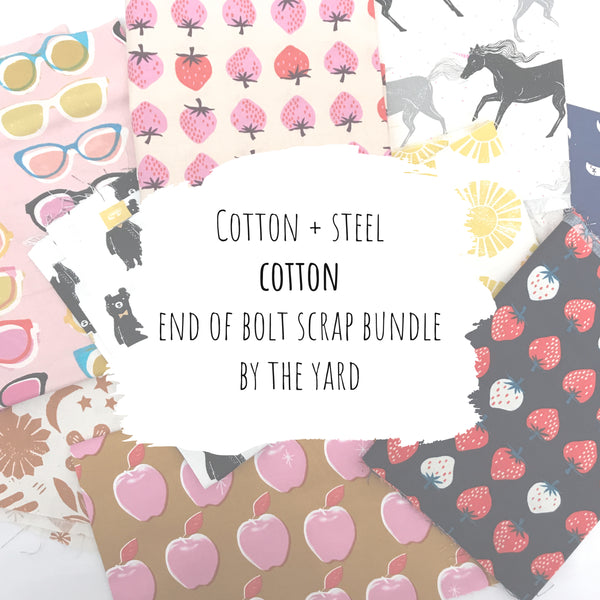Cotton + Steel - Cotton End of Bolt Scrap Bundle (By the Yard)