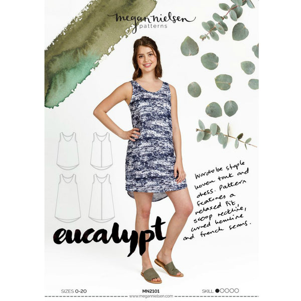 Megan Nielsen Patterns - Eucalypt Woven Tank Top & Dress Pattern (paper)