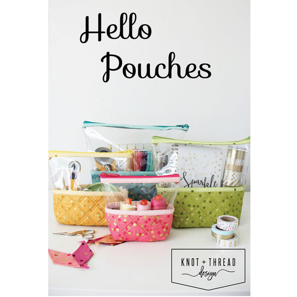 Hello Pouches Pattern (printed paper)