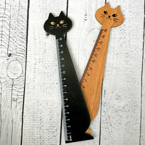Fancy Cat Wooden Ruler
