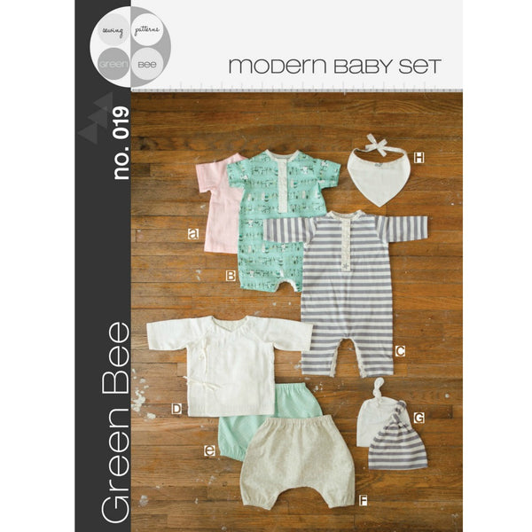 Green Bee Patterns Modern Layette Set Pattern (paper) no. 19