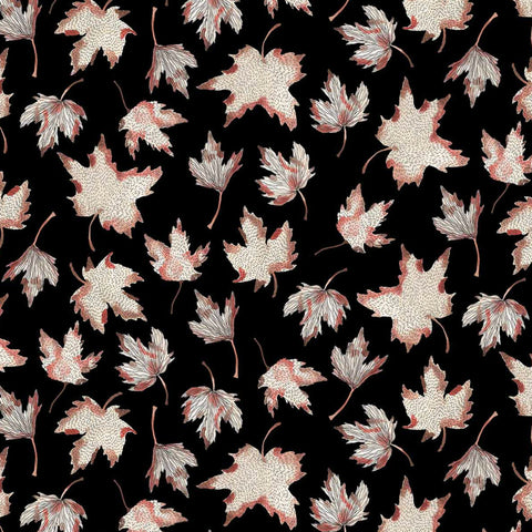 Leaves in Black