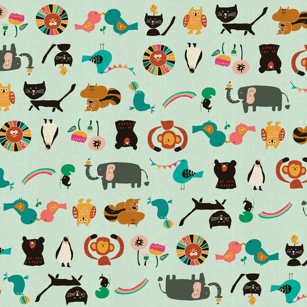Animal Parade in Aqua