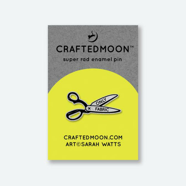 Crafted Moon - Only Fabric Scissors Enamel Pin