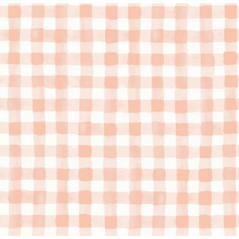 Painted Gingham in Blush