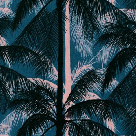 Palms CANVAS in Blue