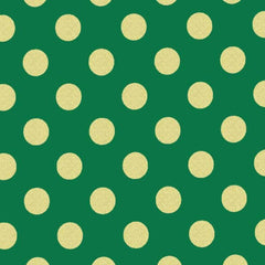 Quarter Dot Pearlized in Spearmint / Gold