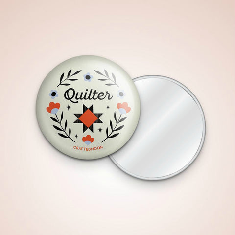 "Crafted Moon - Quilter 3"" Pocket Mirror"