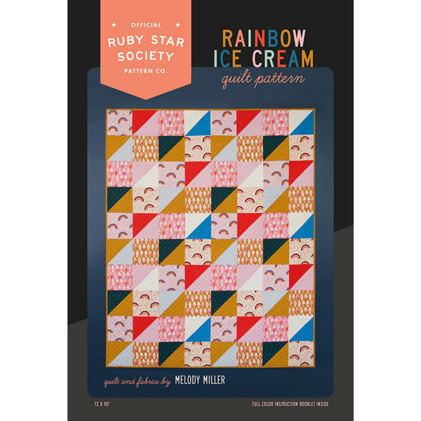 Ruby Star Society - Rainbow Ice Cream Quilt Pattern (paper)
