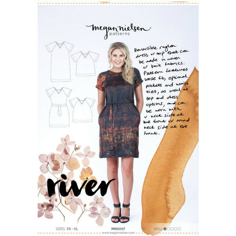 Megan Nielsen Patterns - River Dress & Top Pattern (paper)