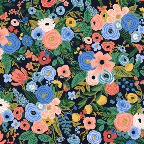 Petite Garden Party RAYON in Navy