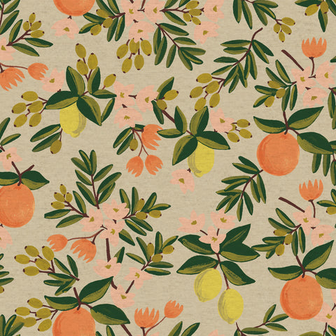 Citrus Floral CANVAS in Sand