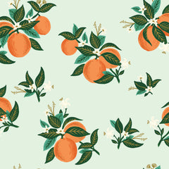 Citrus Blossom RAYON in Orange