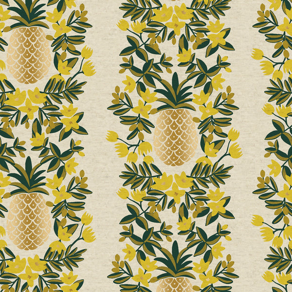 Pineapple Stripe CANVAS in Cream Metallic
