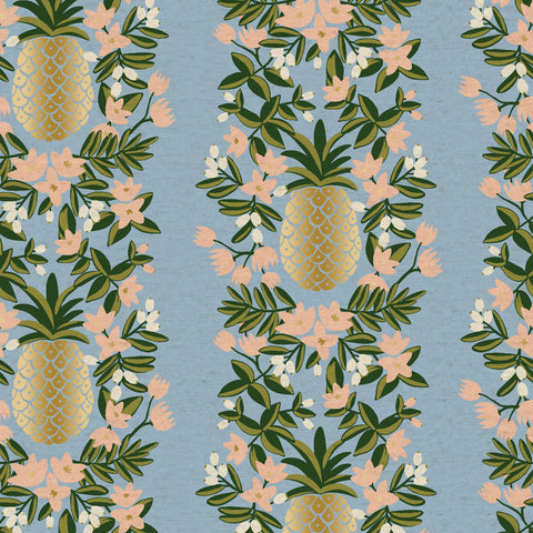 Pineapple Stripe CANVAS in Periwinkle Metallic