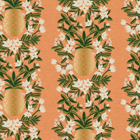 Pineapple Stripe CANVAS in Peach Metallic