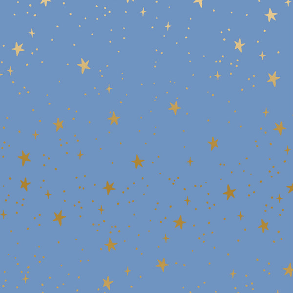 Stars in Periwinkle Metallic