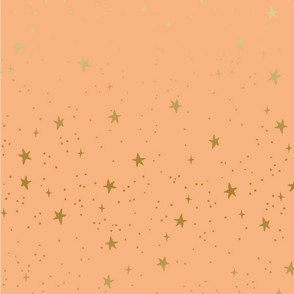 Stars in Peach Metallic