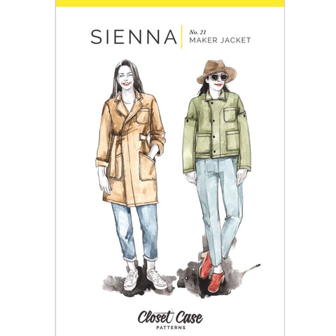 Closet Core Patterns - Sienna Maker Jacket Printed Pattern (paper)