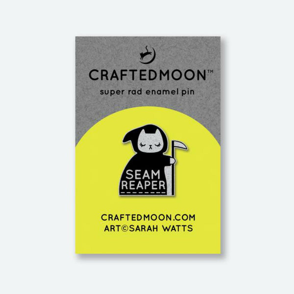 Crafted Moon - Seam Reaper Enamel Pin