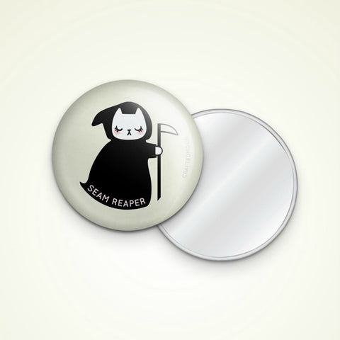 "Crafted Moon - Seam Reaper 3"" Pocket Mirror"