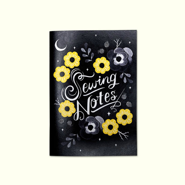 Crafted Moon - Sewing Notes Floral A5 Journal