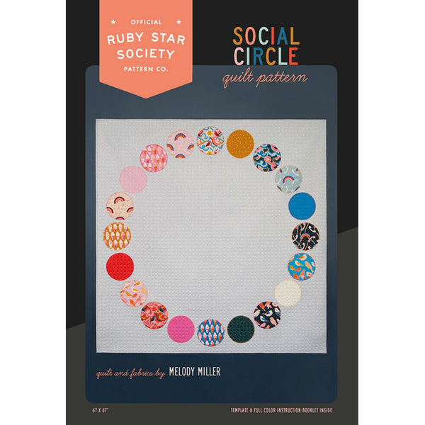 Ruby Star Society - Social Circle Quilt Quilt Pattern (paper)