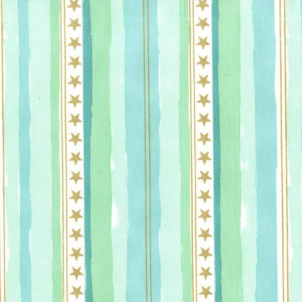 Stars and Stripes in Aqua Metallic