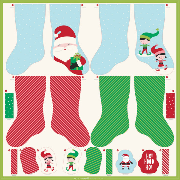 Christmas Stocking and Ornaments Project Panel