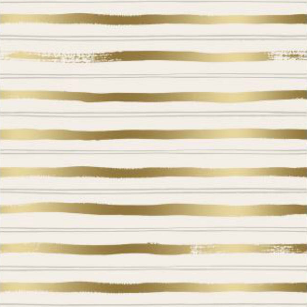 Stripes in Gold Metallic