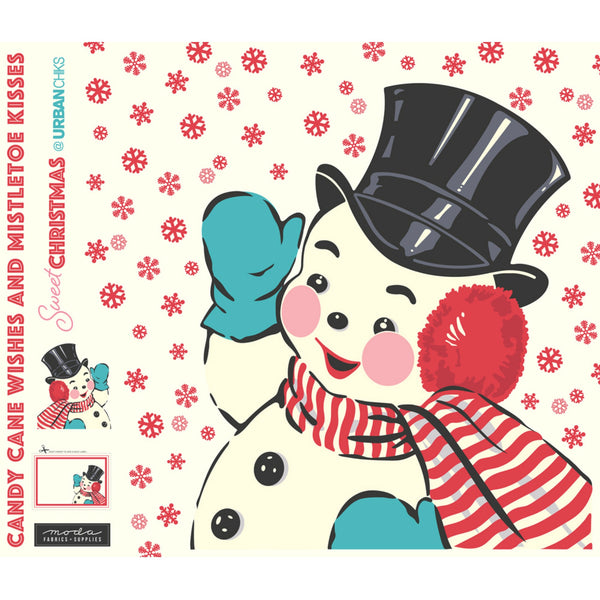 "Sweet Christmas Digital Snowman Panel 72"" x 58"""