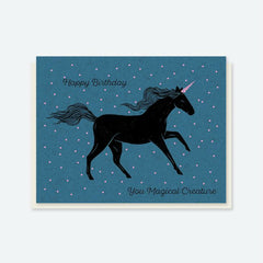 "Crafted Moon ""Happy Birthday"" Unicorn Card"