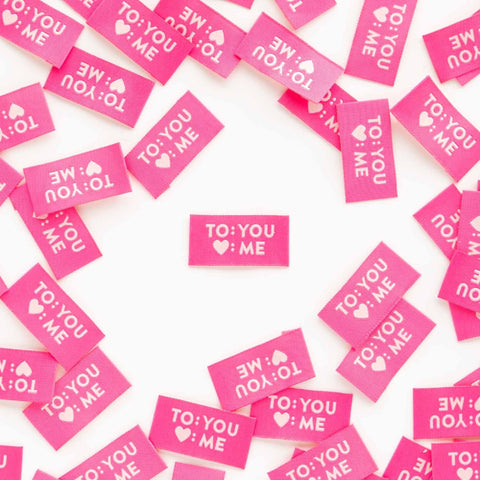 Woven Labels - To You Love Me (pack of 8)