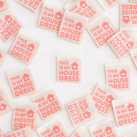 Woven Labels - This Is My House Dress (pack of 8)