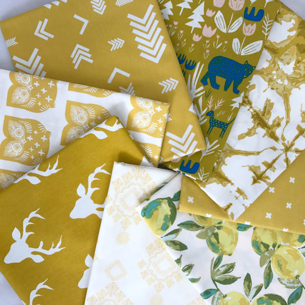 Yellow Fat Quarter Bundle