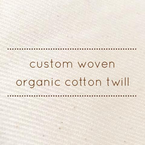 ComfyWeave - Custom woven cotton twill for our buckwheat pillows!