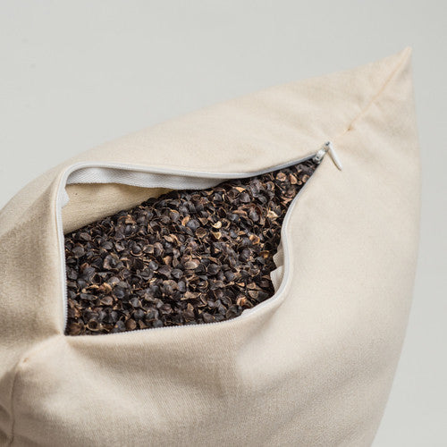 ComfySleep buckwheat pillow zipper and hulls