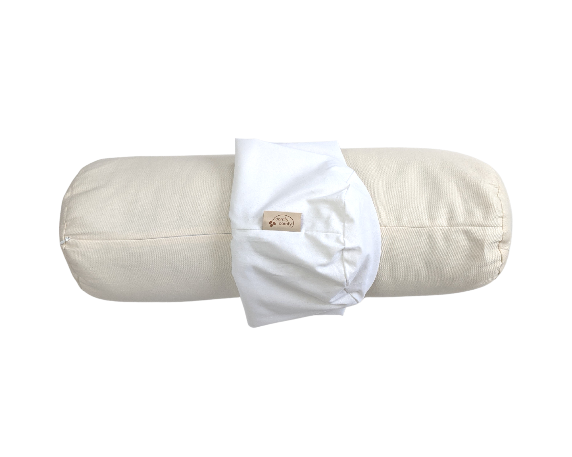 Body Support Pillow + Pillowcase - Organic Buckwheat Hull Body Pillow