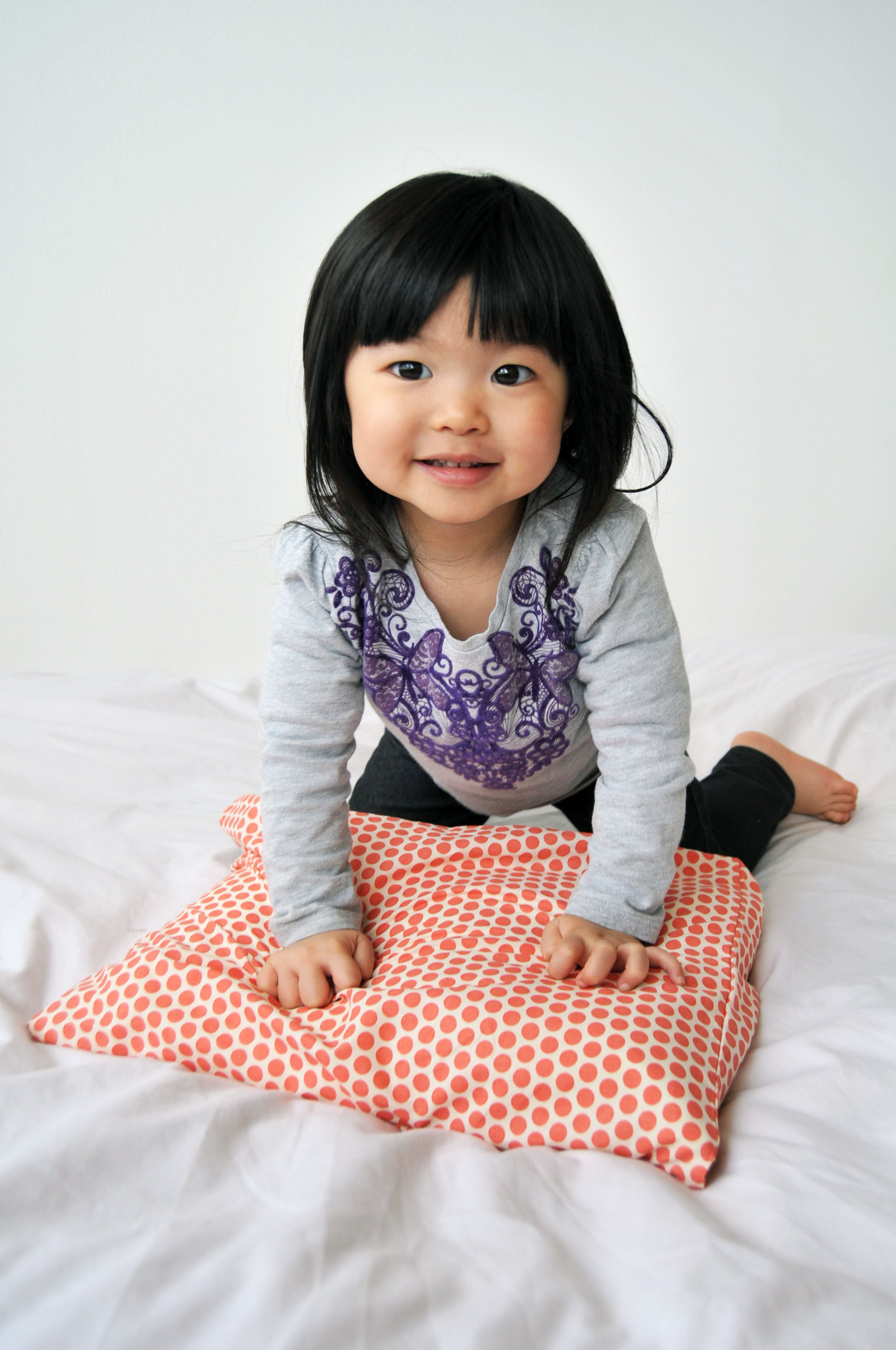 Toddler with Toddler pillow