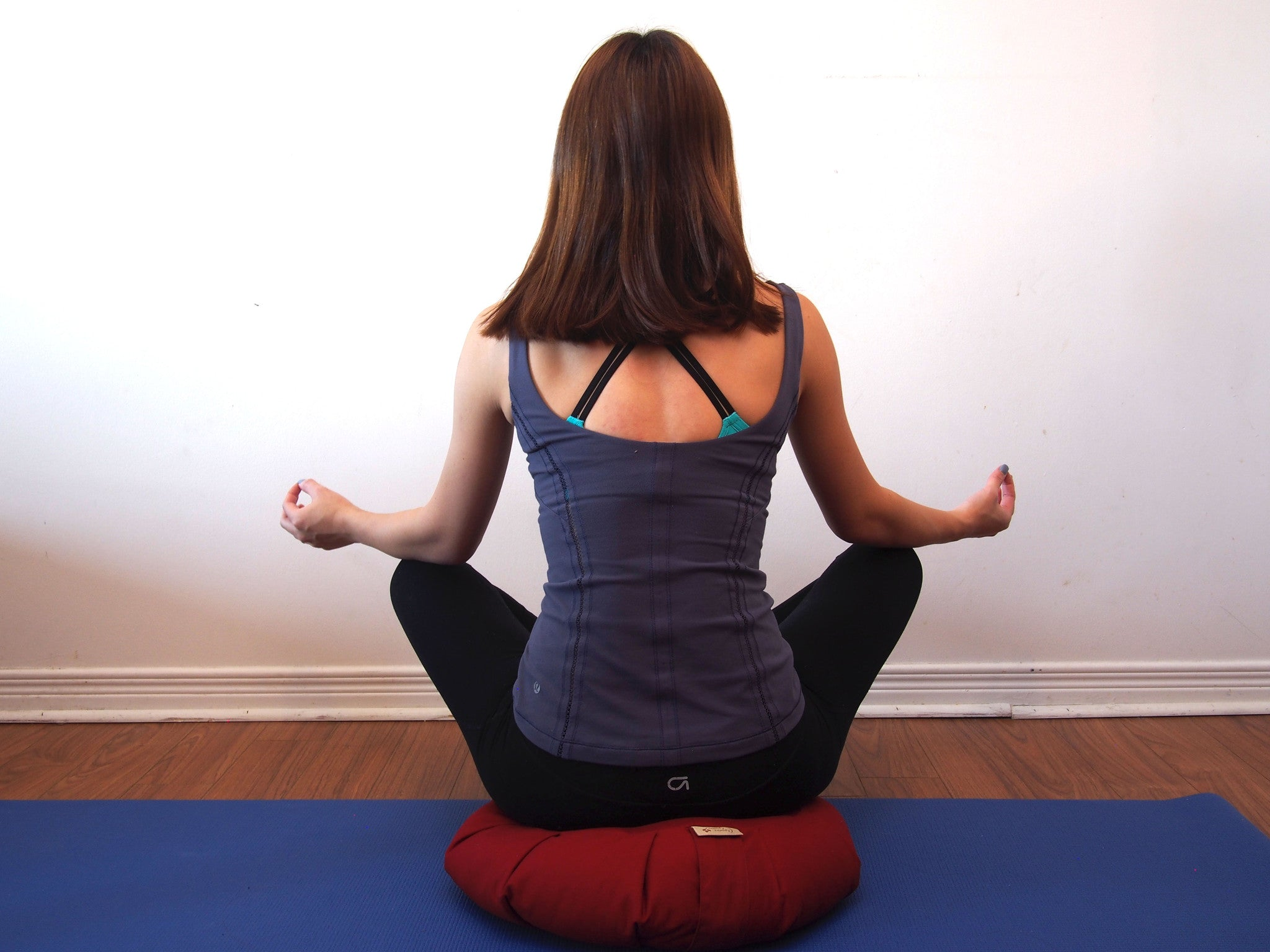 Meditating on Zafu Meditation Cushion Canada