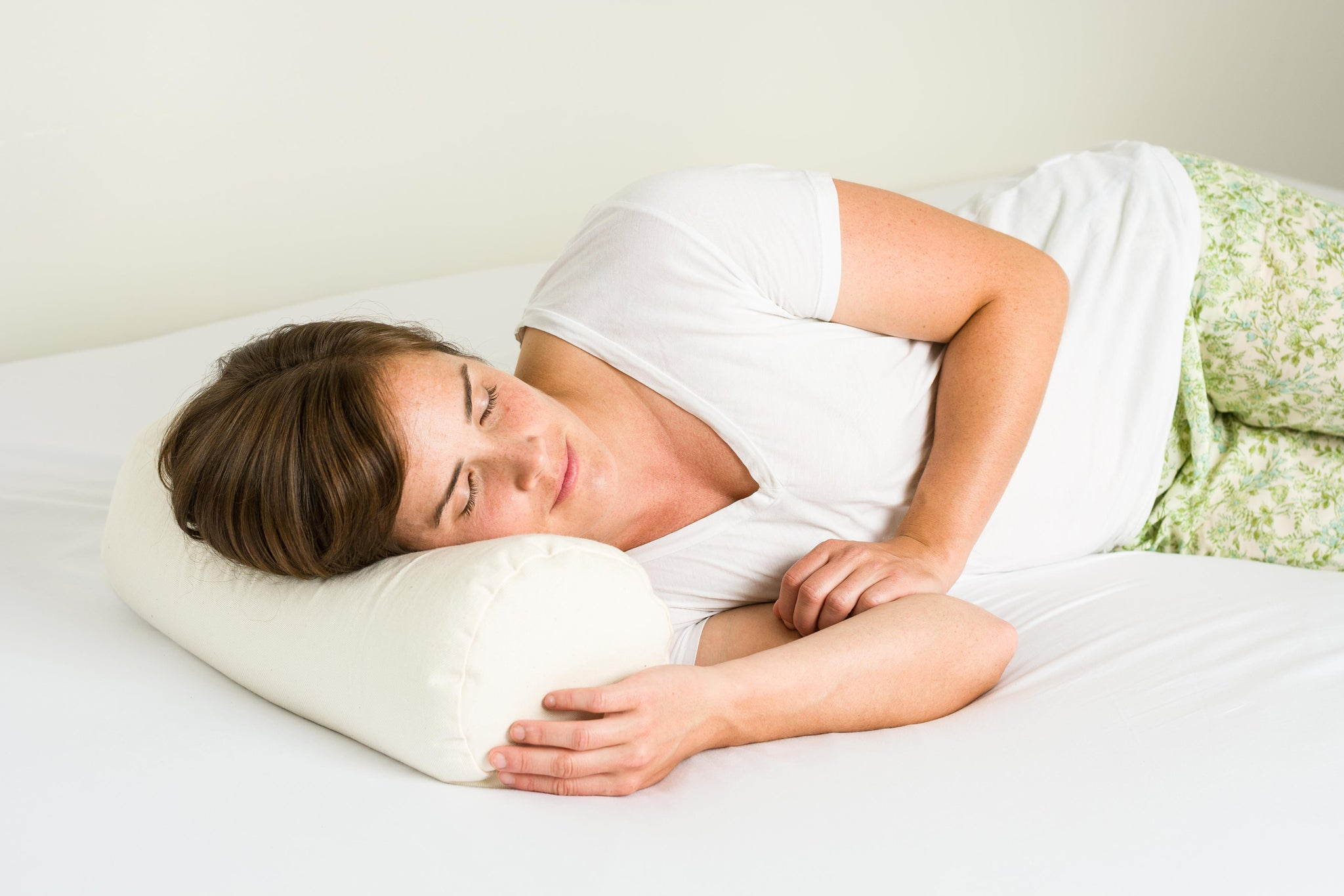 ComfyNeck Plus + Pillowcase - Organic Buckwheat Hull Cervical Neck Roll Pillow