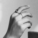 BAR Jewellery Sustainable Loop and O Rings In Silver
