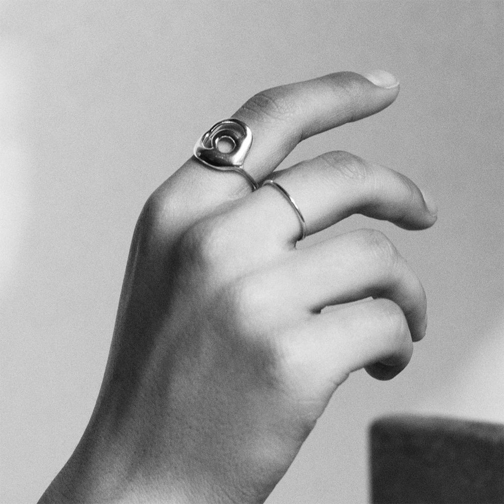 BAR Jewellery Sustainable Loop and O Rings In Sterling Silver
