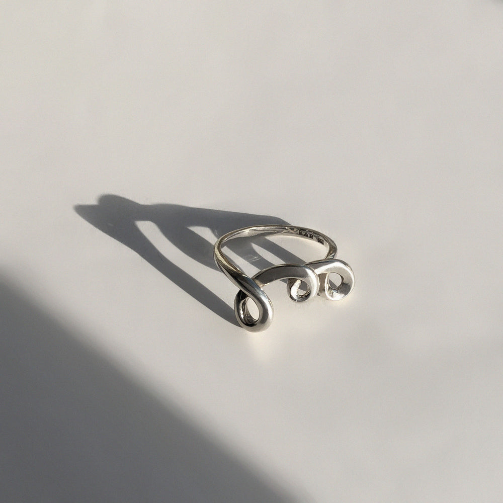 BAR Jewellery Sustainable Ember Ring In Sterling Silver