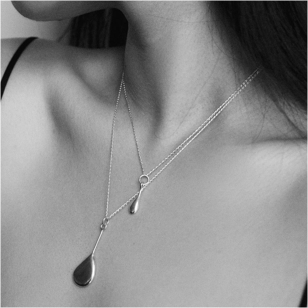 BAR Jewellery Sustainable Ina And Melt Necklaces In Silver