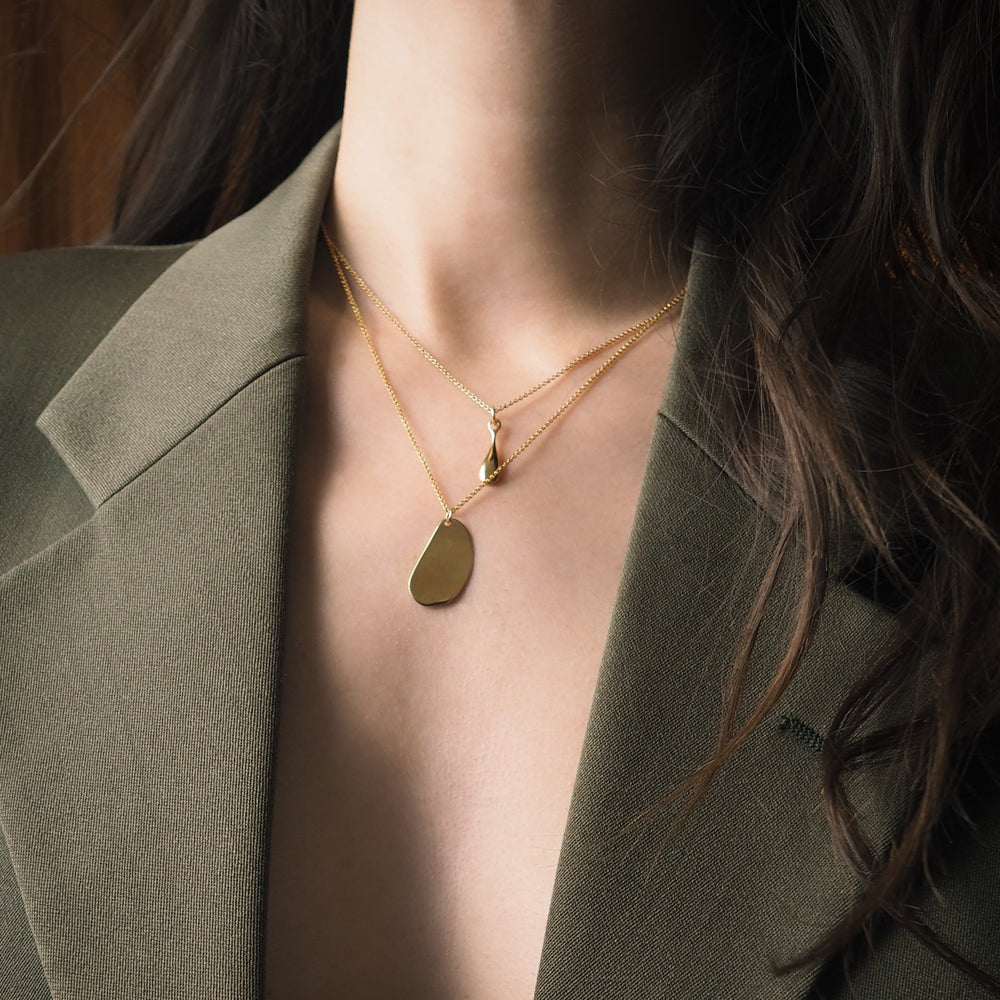 BAR Jewellery Sustainable Plate Necklace In Gold