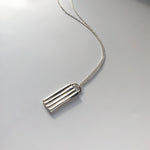 BAR Jewellery Sustainable Braid Necklace In Recycled Sterling Silver