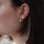 BAR Jewellery Sustainable Coppia Earrings In Silver, On The Ear