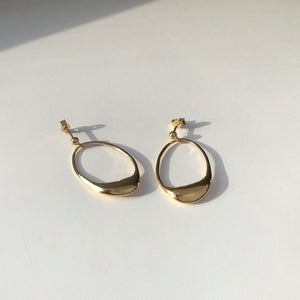 BAR Jewellery Sustainable Dip Earrings In Gold